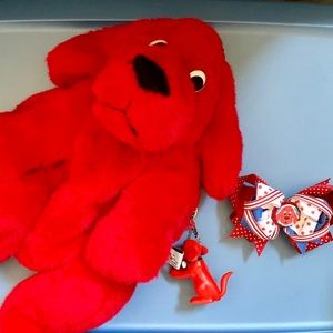 Clifford the Big Red Dog Backpack, Keychain, & Bow